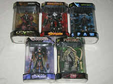 "SPAWN - 5 FIGS in FISHTANKS 7"" - BURNT, SPIKED, MANGA, POACHER, GODDESS - Sealed"