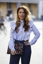 H&M AKT TREND KOLL BLUSE  VOLANT MIU STRIPES CLEAN 38 STUDIO