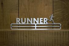 Medal Hanger Display 'Male Runner' Stainless Steel