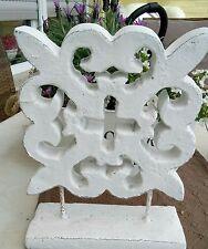 Ornament Deko Element Shabby Chic 23x30 Weiß Vintage Garten Terrasse Brocante