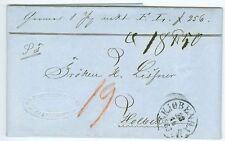 Denmark: Address letter for parcel Copenhagen to Holbaek 1863.