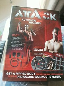 Weider Attack  MMA Training Door Attachment Gloves  Ankle Straps 2 DVD's NEW