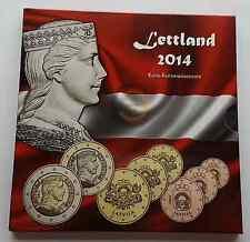 2014 Letonia Coin Pack BU EUROS 3,88 EUR Estuche Monedas Coins Lettland Latvia