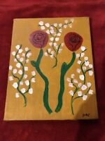 Roses On 8x10 Canvas