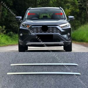 Front Window Wind Shield Deflector Trim Stainless Fit For Toyota RAV4 2019-2020