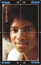 Michael Jackson 4 telefoonkaarten/télécartes  (MJ59-77 4p)