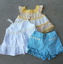 3 pc Gymboree Lot Daisies Tank Top, Shorts, floral top 100% cotton 12-18 mos
