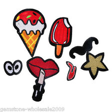1Set Moustache Cartoon Patch Iron On Garment Accessories JM