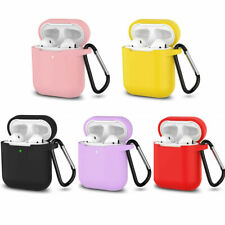 LED Front Vision Silicone Cover Protective Apple Airpod Charging Case W/ Buckle