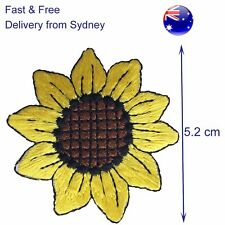 Sunflower Iron on patch sun flower head happy iron-on heat transfer patches