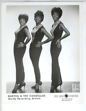 MINT MARTHA AND THE VANDELLAS  vintage 8x10 photo Berry Gordy Recording New York