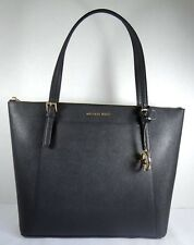 Michael Kors Ciara Large East West Top Zip Tote Saffiano Leather Black