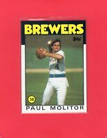 1986 Topps baseball #267  PAUL MOLITOR Milwaukee Brewers Hall of Fame