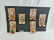 Vintage 1920s Victorian Die Cut Salesman Sample VALENTINE CARD Display - German!