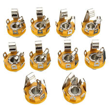 10Pcs 1/4'' 6.35mm Stereo Jack Socket Connector  Effects Box Guitar Panel Mount
