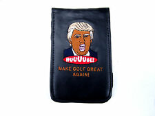 Sunfish Leather Golf Scorecard Yardage Book Holder Cover TRUMP MAKE GOLF GREAT