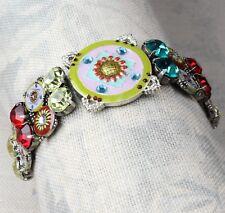 PILGRIM Danish Bracelet Vintage Silver & Bright Swarovski EASTERN ESSENCE BNWT