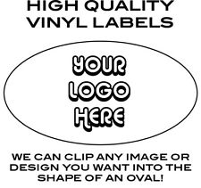 25 500 Custom Labels 12 4 Oval Cut Withhigh Quality Vinyl And Uv Laminate