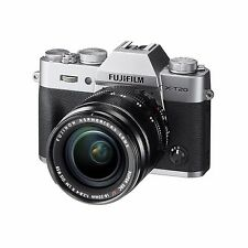 Fuji Fujifilm X-T20 (Silver) w/18-55mm Lens & FREE Extra Fuji Battery *NEW*