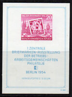 East Germany Miniature Stamp Sheet c1954 Unmounted Mint Never Hinged (8171)