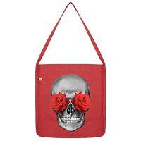 Twisted Envy Rose Eye Skull Tote Bag