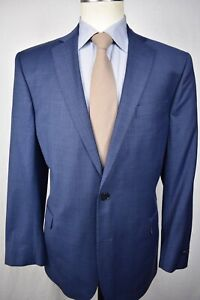Brooks Brothers Explorer Solid Blue Wool Blend Two Button Sport Coat Size: 44R