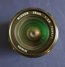Nikon Nikkor 28mm F2.8 AIS (52) 35MM SLR MANUAL FOCUS WIDE ANGLE LENS
