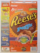Empty GENERAL MILLS Cereal Box 1998 REESE'S PUFFS Peanut A BUG'S LIFE 14.25 oz