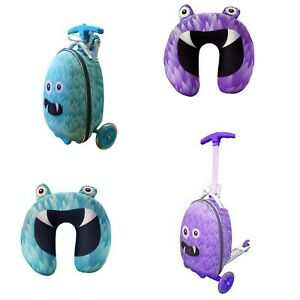 Kids Monster Suitcase Scooter&Animal Luggage Tag,Rest Travelling,Weight (kg):4