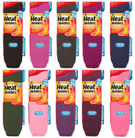 Heat Holders - Womens Winter Warm Thermal Colorful Extra Long Knee High Socks