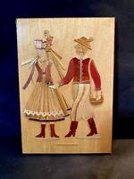 Kurpie Vintage Folk Art Wooden Wood Handmade Carved Wall Decor Hanging ~ POLAND