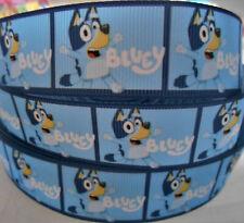 "BLUEY character dog cartoon  2 Metres 1"" 25mm Grosgrain Ribbon Cake Clip Craft"