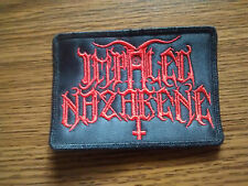 IMPALED NAZARENE,SEW ON RED EMBROIDERED PATCH