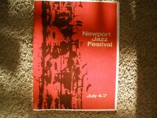 RARE!! Orig 1963 Newport Jazz Fest Concert Program-Coltrane-Ellington-Brubeck