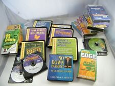 LOT OF VINTAGE SELF-HELP AUDIO BOOKS ON INVESTING~ SHEETS, ALLEN, HANSEN, OTHERS