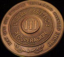 Alcoholicos Anonimos 3 year Bronze Medallion Spanish  AA Alcoholics Anonymous