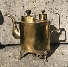 19c. Rare Russian Antique Brass Samovar Coffee Pot