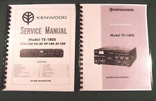 """Kenwood TS-180S Service & Instruction Manuals: with 11"""" X 17"""" Foldout Schematics"""