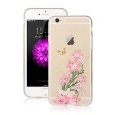 ORCHEDEE Schmetterling Silikon Hülle Apple iPhone 7 PLUS Case Pink Rose Blumen 4