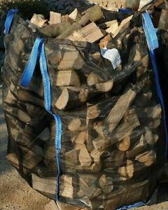 10 x Woodbag Holzbag BigBag 100x100x160cm Premium Brennholz Holz Big Bag Säcke