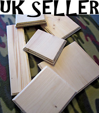 Plain Wooden Plaque Door Sign Blank Home Decoration Rectangle ANY SIZE POSSIBLE