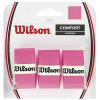 Wilson - WRZ4014PK - Tennis Racquet Pro Over Grip - Pink - Pack of 3