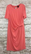 Long Tall Sally Side Twist  Dress Size 16 Color Coral NWT