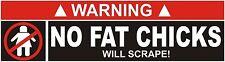 Autocollant pas de graisse poussins se gratter Drôle Autocollant étiquette en vinyle graphique