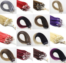 7A Grade Remy Human Hair Extensions DIY Loop Micro Ring Bead Tip Hair Straight