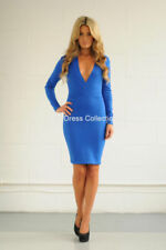 Vestiti da donna blu corto, mini acrilici