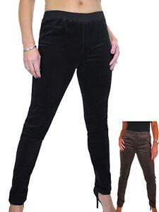 Paulo Due Womens Soft Stretch Corduroy Pants Slim Fit Elasticated Waist 12-18