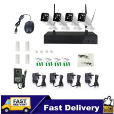 4CH 720P 20Mbps Wireless Wifi NVR IP Camera Security System HD CCTV Video Kits