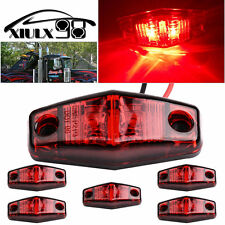 6Pcs 2 Diode Universal truck Trailer Clearance light Side Marker LED Light Red