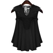 Fashion Women Summer Vest Top Sleeveless Chiffon Blouse Casual Tank Tops T Shirt